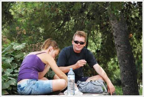 Backgammon i parken